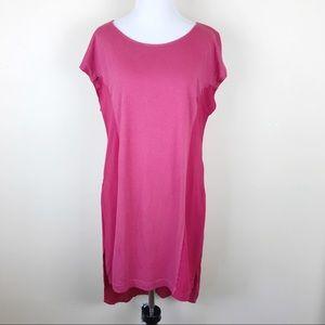 T. La Anthropologie Pink Shirt Dress XS